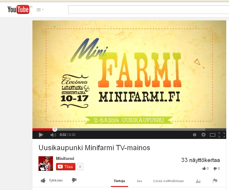 Minifarmi_youtube_mainos
